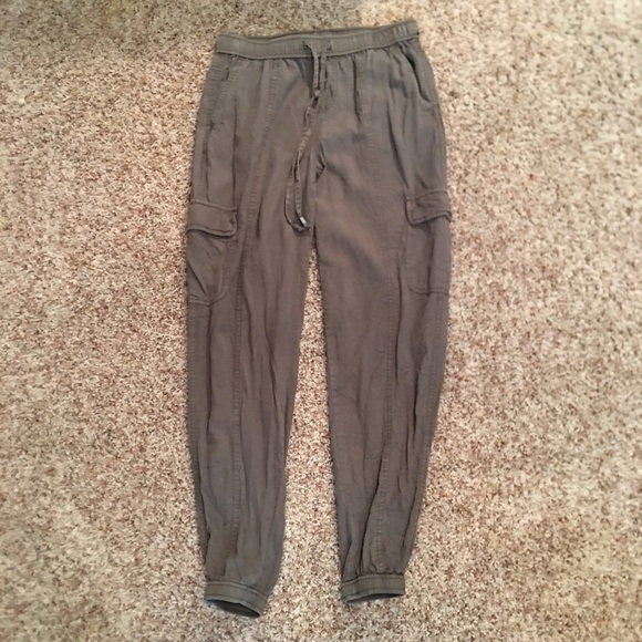 great discount sale no sale tax new items Army green Flowy joggers